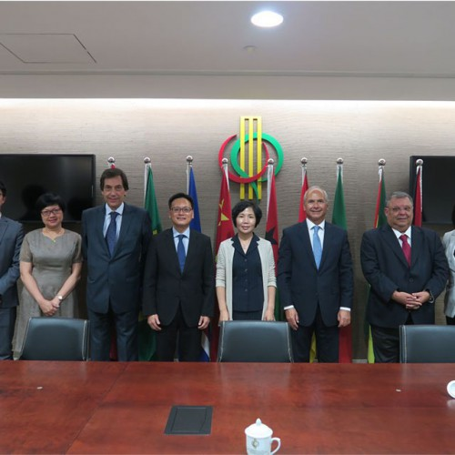 Visit to the Permanent Secretariat of the Forum for Economic and Trade Co-operation between China an...