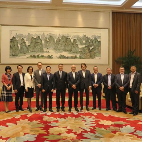 Visita Yao Jian, Vice-Director do Gabinete de Ligação do Governo Popular Central na Região Administr...