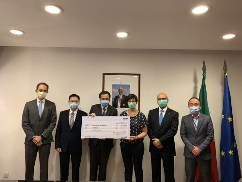 葡中工商會澳門分會捐款5萬元支持葡萄牙抗疫工作